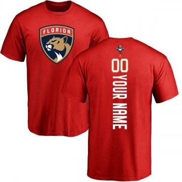Men's Custom Florida Panthers Custom Backer T-Shirt - Red