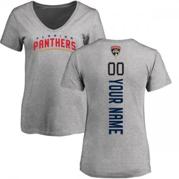 Women's Custom Florida Panthers Custom Backer T-Shirt - Ash