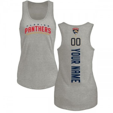 Women's Custom Florida Panthers Custom Backer Tri-Blend Tank Top - Ash