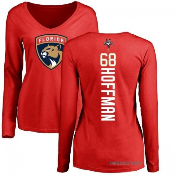 Women's Mike Hoffman Florida Panthers Backer Long Sleeve T-Shirt - Red