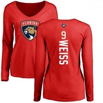 Women's Stephen Weiss Florida Panthers Backer Long Sleeve T-Shirt - Red